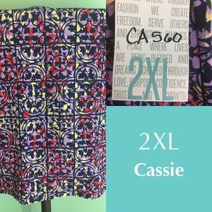 LuLaRoe Cassie skirt - 2XL